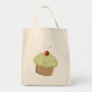 Lime Cupcake Grocery Tote Bag