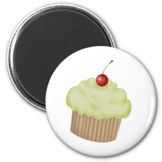 Lime Cupcake 2 Inch Round Magnet