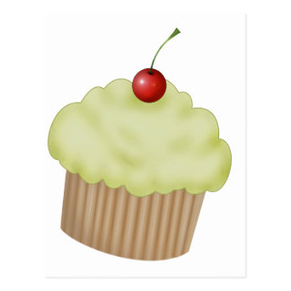 Lime Cupcake Postcard