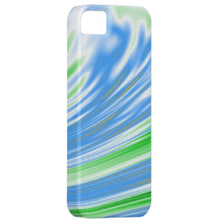 Lime Cyan White Abstract Background iPhone SE/5/5s Case