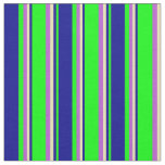 [ Thumbnail: Lime, Dark Blue, Tan, and Orchid Colored Pattern Fabric ]