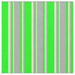 [ Thumbnail: Lime, Dark Gray & Tan Colored Lined Pattern Fabric ]