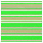 [ Thumbnail: Lime, Dark Khaki & Mint Cream Lines Fabric ]