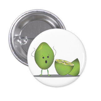 Lime Destiny of Disaster Funny Button