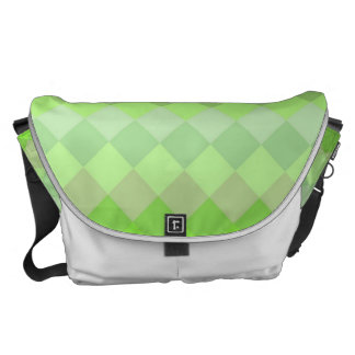 Lime Diamond Mosaic Pattern Courier Bag