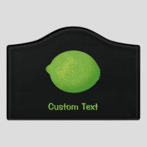 Lime Door Sign