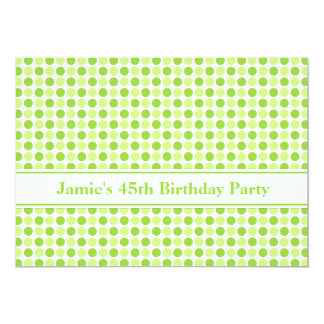 Lime Dots 45th Birthday Party Invitation