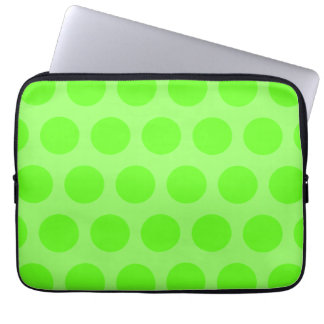 Lime Dots Laptop Sleeve