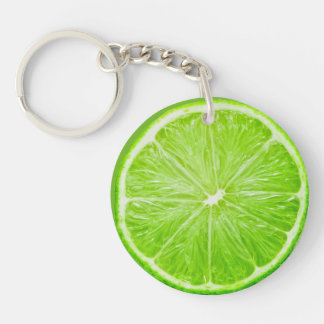 Lime Double-Sided Round Acrylic Keychain