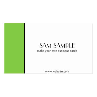 Lime Double-Sided Standard Business Cards (Pack Of 100)