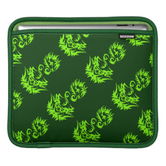 Lime Dragon 2 tattoo Sleeve For iPads
