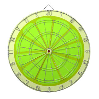 Lime Drawing Dartboard With Darts