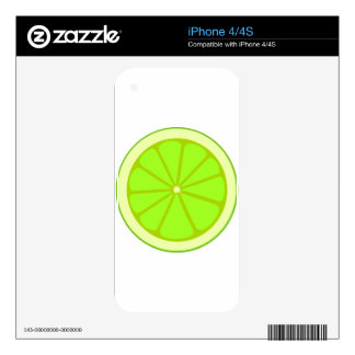 Lime Drawing Decal For The iPhone 4S