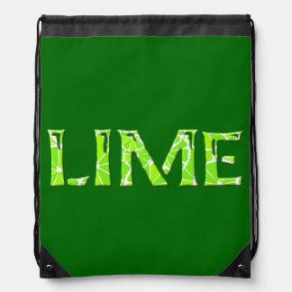 Lime Drawstring Backpack