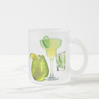 Lime Drinks Frosted Glass Coffee Mug
