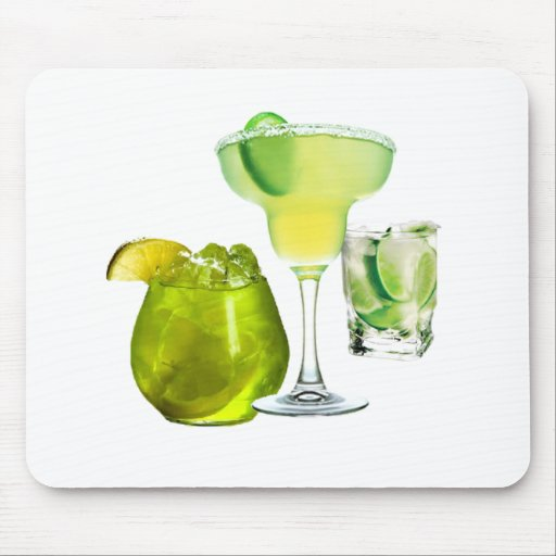 Lime Drinks Mouse Pad