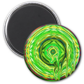lime droop 2 inch round magnet