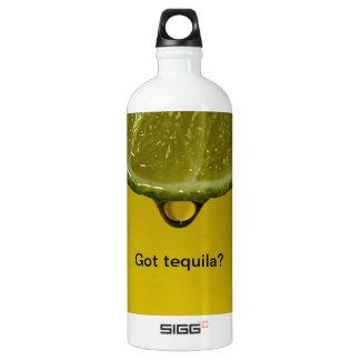 """Lime drop """"got tequila?""""water bottle. aluminum water bottle"""