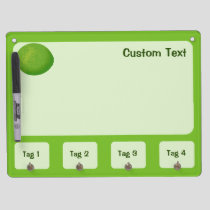Lime Dry Erase Board With Keychain Holder