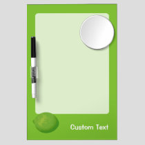 Lime Dry Erase Board With Mirror