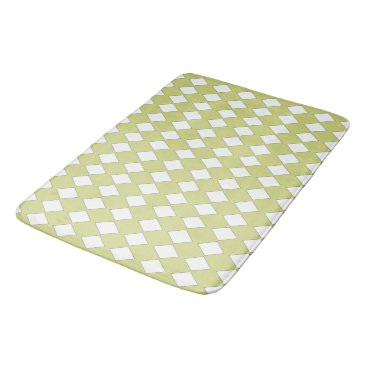 Beach Themed Lime-Edge-White-Diamond's-Accent-Rug's SML Bathroom Mat