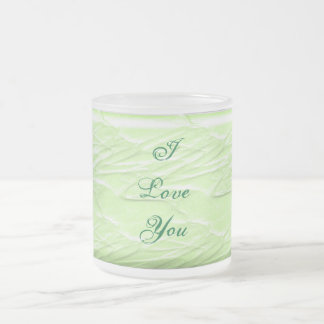 Lime Elegance #1 Frosted Glass Coffee Mug
