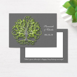 Lime Elegant Rustic Luxe Wedding Tree Business Card