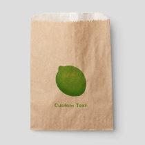 Lime Favor Bag