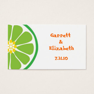 Lime Fiesta Place Cards or Save the Date Inserts