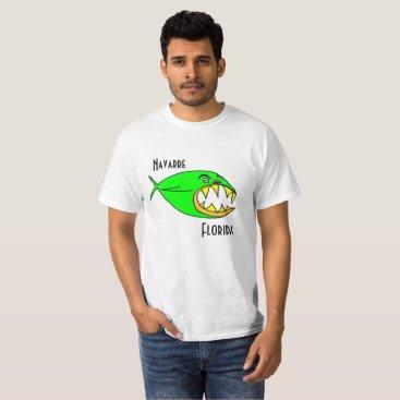 Beach Themed Lime Fish Navarre Florida T-Shirt