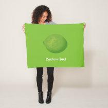 Lime Fleece Blanket