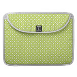 Lime Flower Argyle Pattern Macbook Pro With Flap Sleeve For MacBook Pro