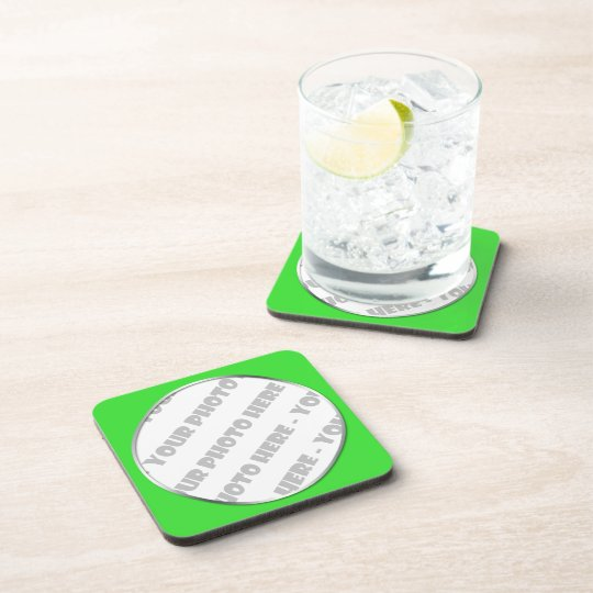 Lime Frame Photo Cork Coasters - Create Your Own