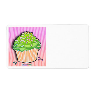 Lime Frosted CUPCAKE AVERY LABEL
