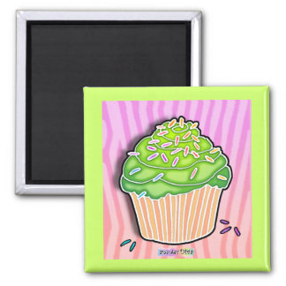 Lime Frosted CUPCAKE MAGNET