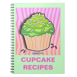 Lime Frosted Cupcake Recipe Notebook