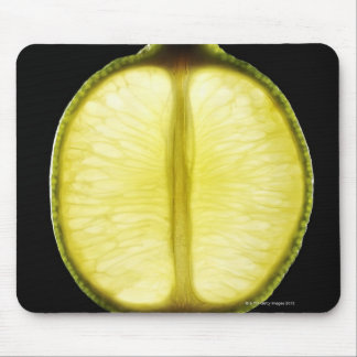 Lime,Fruit,Black background Mouse Pad