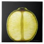 Lime,Fruit,Black background Tiles