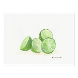 Lime fruit design real limes postcard