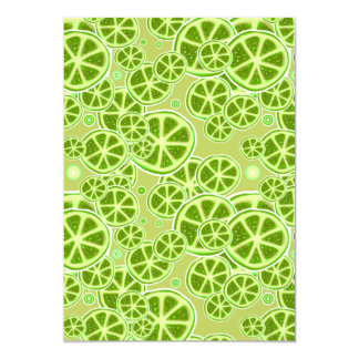 Lime Fruit Slice Pattern 5x7 Paper Invitation Card