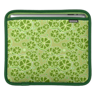 Lime Fruit Slice Pattern Sleeve For iPads