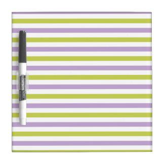 Lime & Fuchsia Stripes custom message board