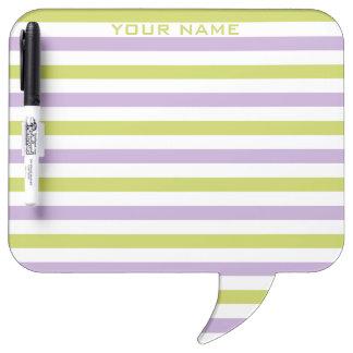 Lime & Fuchsia Stripes custom message boards Dry-Erase Board