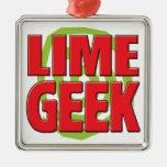 Lime Geek Ornaments