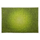 Lime Glitter Sequin Disco Glitz Pattern Placemat