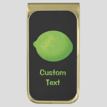 Lime Gold Finish Money Clip