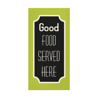 Lime Good Food Sign Canvas