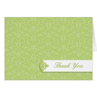Lime Graduation Thank You Card