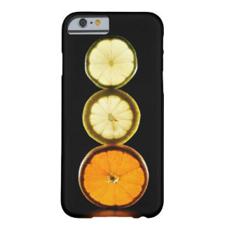Lime,Grapefruit,Lemon,Fruit,Black background Barely There iPhone 6 Case
