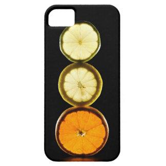 Lime,Grapefruit,Lemon,Fruit,Black background iPhone SE/5/5s Case